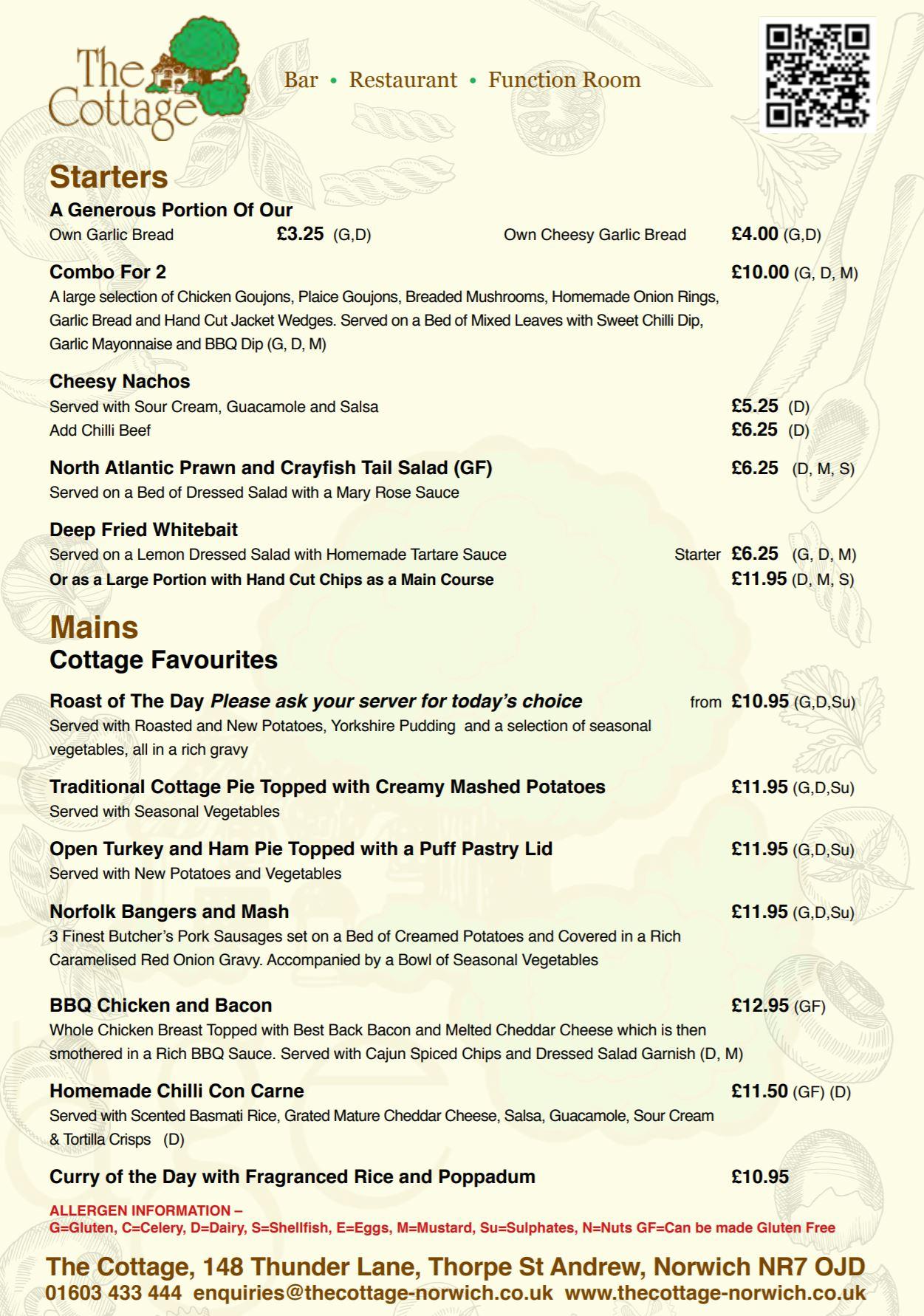 Takeaway menu preview